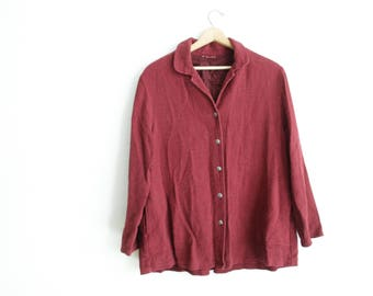 Vintage Burgundy Textured jacket