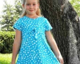 Empire Waist 2 piece Swim Dress Pattern CHILD size with FREE Video Tutorial