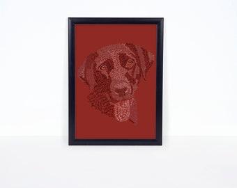 Custom Pet Letter Art