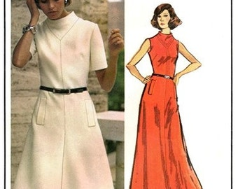 Vogue 2794 Masterpiece Dress with Fitted Bodice 1970's / SZ8 UNCUT