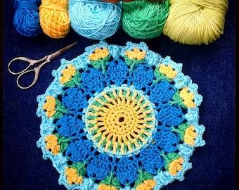 Crochet Pattern - Love Blooms Mandala by The Little Bee