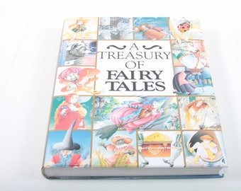 A Treasury Of Fairy Tales, Children's, Illustrations, Book, Collection, 1994, Vintage ~ 161224