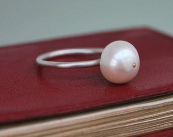 Freshwater pearl and sterling silver rings