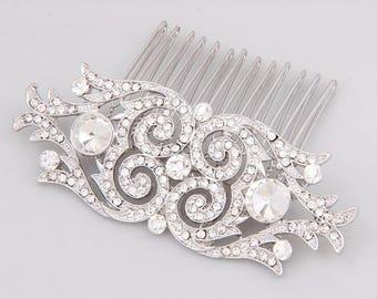 Crystal Hair Comb, Bridal Hair Comb, Rhinestone Bridal Comb, Wedding Hair Comb, Bridal Hair Accessories, Wedding Hair Pin, Bridal Headpiece
