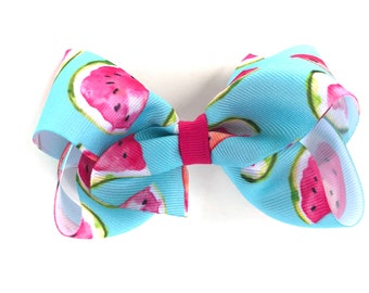 Watermelon Hair bow - hair bows, bows, hair clips, hair bows for girls, baby bows, girls hair bows, toddler bows, hairbows, boutique bows