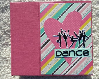 6x6 Dance Scrapbook Photo Album in Pink Binder