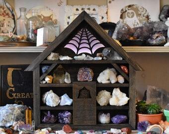 Illuminated Storybook House Crystal Display Shelf