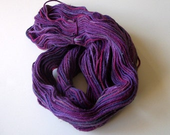 Hand dyed cotton yarn  worsted weight 200+ yds.