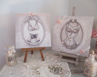 "Painting ""Medallion outfit... tie"" Shabby chic!"