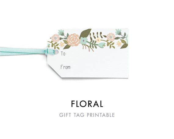 flower tags template free - editable flower gift tag template to and from tag printable
