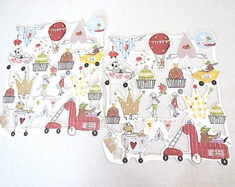 set of 2 sheets of card making, scrapbooking decorations