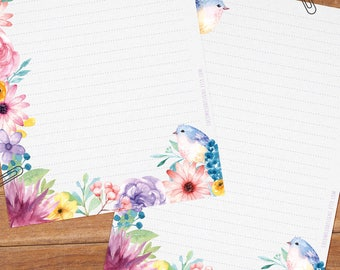Enchanted dreams - DOWNLOAD file - Printable Writing paper - A5 size