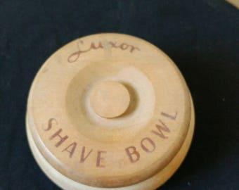 Vintage Wooden Luxor Shave Bowl