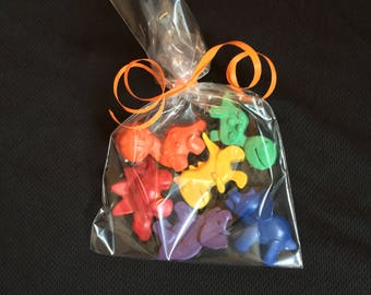 Dinosaur Crayons Favors 10-25 bags- Dinosaur birthday- Dinosaur party