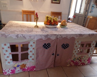Custom made Tablecloth Playhouse - Country Cottage