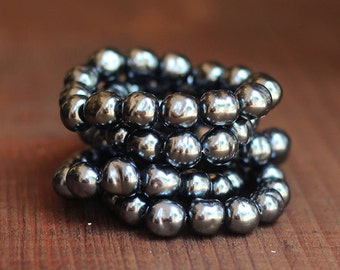 10mm Miriam Haskell Baroque Pearls in Charcoal