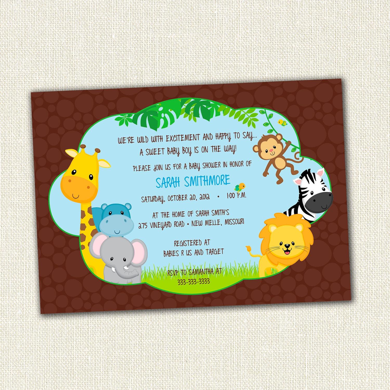 safari themed invitations