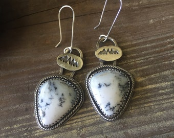 Dendritic Opal earrings
