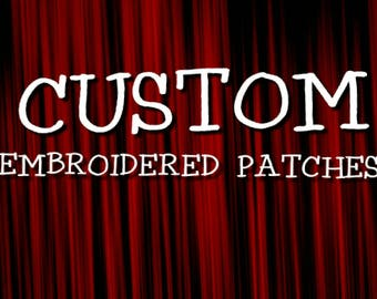 Custom patches. Your embroidered patches. Embroidery patch with your text.