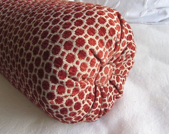poppy brick/red chenille decorative Bolster Pillow 6x14  6x16  6x18  6x20  6x22