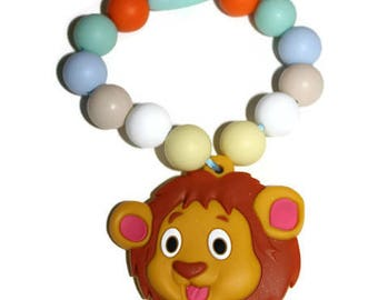 lion toy, teether, toy, baby teether, baby toy, teething toy, carrier clip, silicone toy, silicone teether, baby boy, first birthday, baby