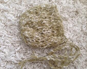 Newborn knit bonnet,photo prop,gift idea,knit,crochet,ready to ship