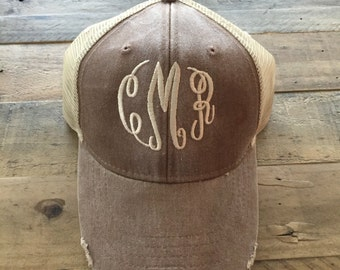 Monogram Trucker Hat, Monogrammed Trucker Hat, Monogrammed Hat, Monogram Baseball Cap