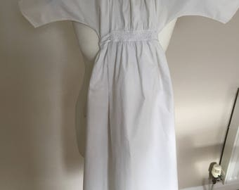 Victorian baby gown - antique baby nightdress - victorian white cotton baby nightdress