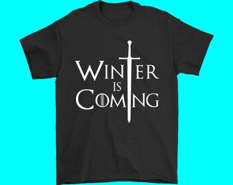 Men's Winter Is Coming T-Shirt Game Of Thrones Shirts