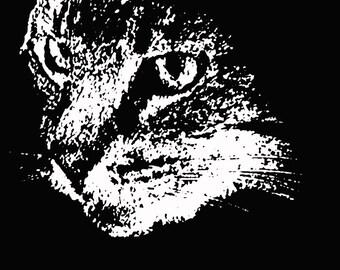 Blackwork Cat Pattern