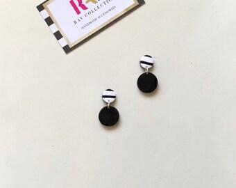 Polymer Clay Earrings / Statement Earrings / Geometric Earrings/ Gifts for Her / Dangle Earrings