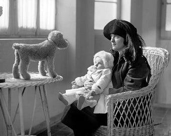Suprised Baby 1920s Photo