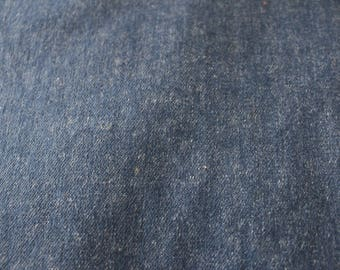 16 Blue denim like fabric Vintage