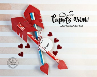 KIT Cupid Arrow Sets /Valentine's Day Treat / Kids Valentine for Classmates /Classroom Treat /Party Favor / Co-Workers Treat /Employee Treat
