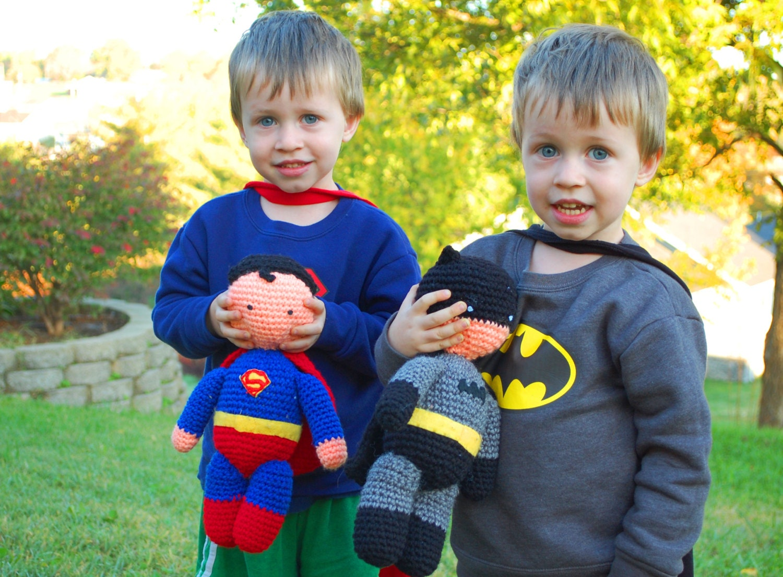 My Hero Superman and Batman PDF Crochet Toy Patterns INSTANT