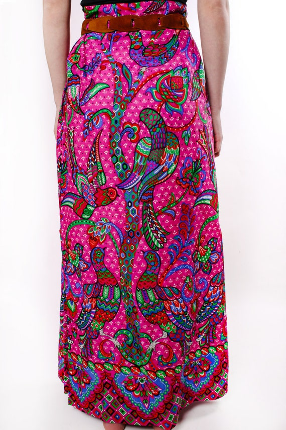 Bohemian Skirt Colorful Print Handmade
