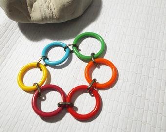 Colorful bracelet Years 70 vintage