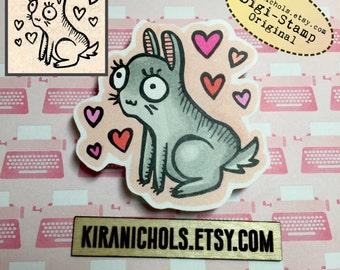 Bunny Digital Stamp - Digistamp - Easter Digital Stamp - Coloring Pages - Stamp - Printable Sticker - Clip Art - Printables