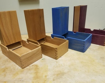 Hand Crafted Wooden Dice Tower and Tray