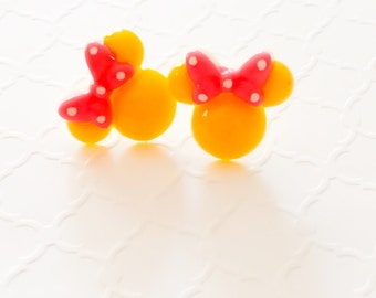 Fish Extended Gift  Minnie Mouse Earrings Stud Minnie Earrings Minnie Jewelry Disney Earrings Minnie Ears Disney Earrings Minnie Studs