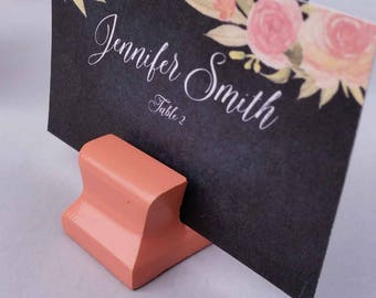 Place Card Holder Vintage Coral - Cute Curves Weighted Card Holder