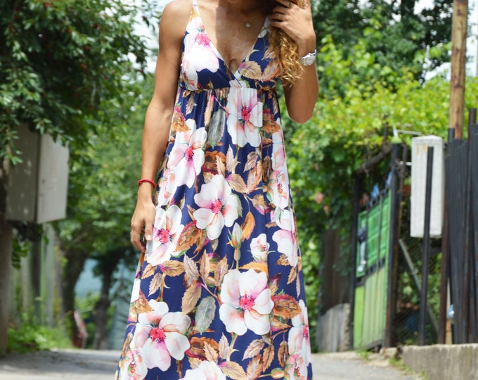 Summer Maxi Dress for Women, Flowers Dresses, Plus Size Maxi Dress, Day Wear Dress, Coctail Dress, Evening Dress by SSDfashion