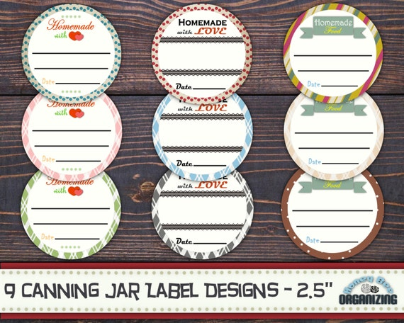 Canny image for printable labels for jars