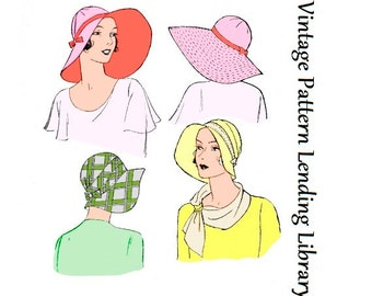 1931 Ladies Brimmed Cloche Hat - Reproduction Sewing Pattern #H5651