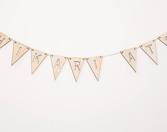 Wooden Cut Out Bunting - Customisable