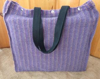 MARKET BAG, HANDWOVEN, Grocery Bag, Tote, Purple, Beach Bag, Eco-Friendly, Reusable, Shopping Bag, Large