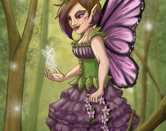 I can help! - Fairy and pixie painting // digital art