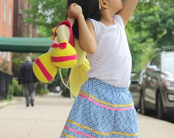 Blue summer skirt
