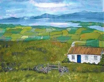 Irish Ireland Landscape Bay, County Cork Print Painting