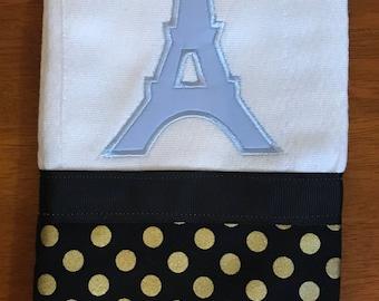 Paris Eiffel Tower Burp Cloth